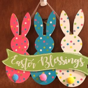 Easter Bunny Sign Hanging Decor